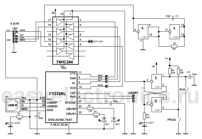 Logic unit: 74HC00. on Russian sorry). http://translate.google.com/translate?p ... ry_state0. avrdude.conf...